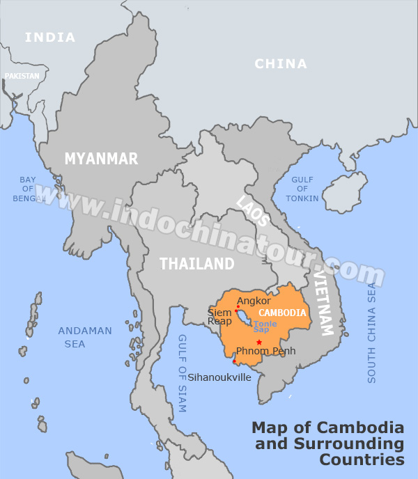 Cambodia and Laos Travel Maps, Maps of Laos and Cambodia