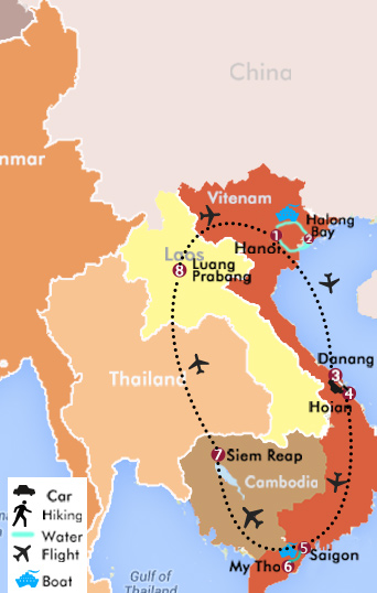 14 Days Vietnam, Cambodia and Laos Tour in Style