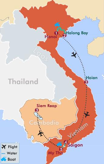 Days Classic Vietnam And Cambodia Tour Vietnam And Cambodia Tour - Where is cambodia