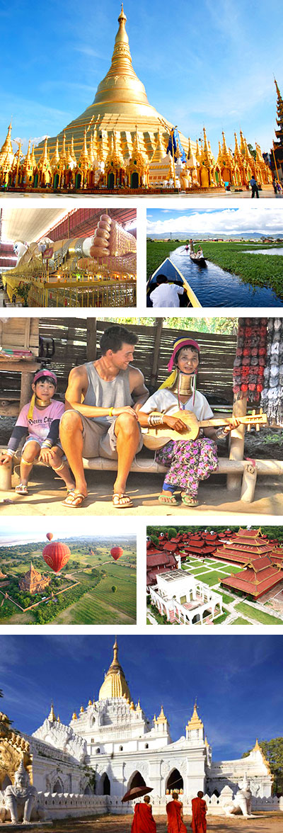 Myanmar Tour, 12 Days Myanmar Discovery Trip with Long Neck Hill Tribe