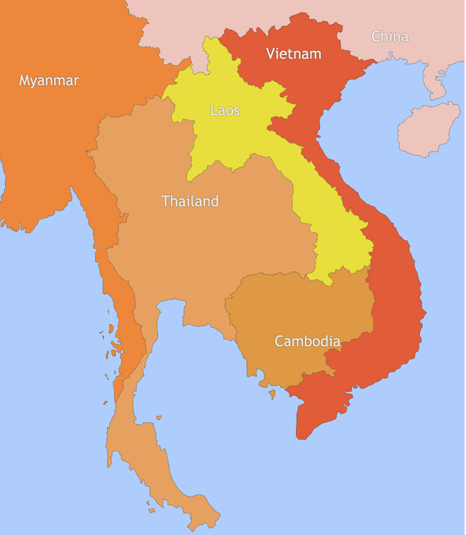 City Map of Thailand