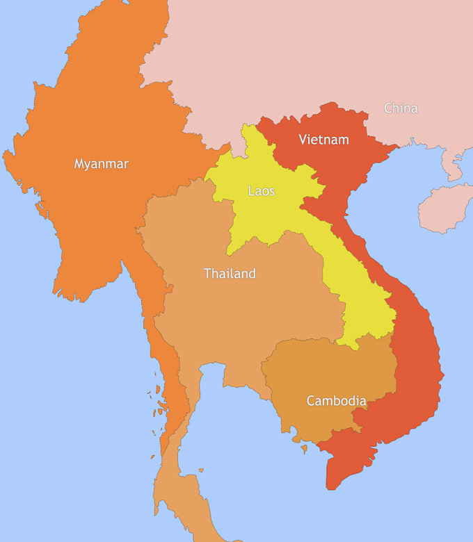 where is cambodia located on the world map Cambodia And Laos Travel Maps where is cambodia located on the world map