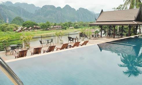 Silver Naga Hotel Vang Vieng Comfortable 4 Star Hotel