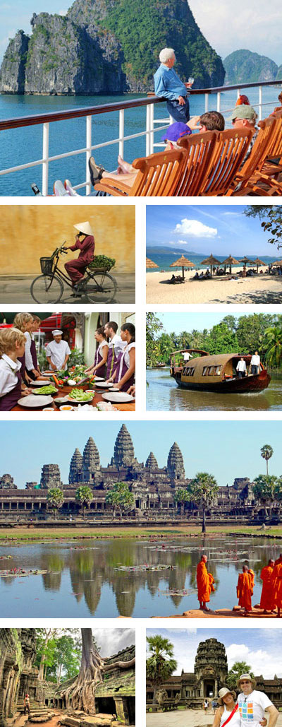 14 Days Vietnam and Cambodia Highlights Tour with Halong Bay Cruise