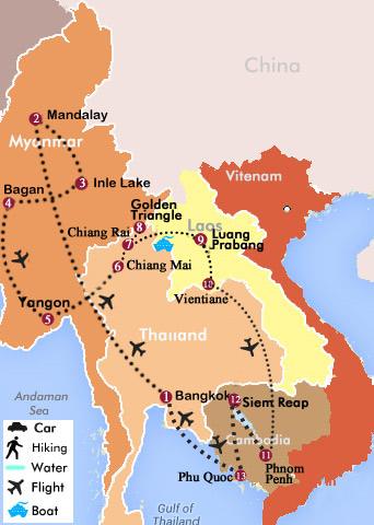 26 Days Thailand Myanmar Laos Cambodia And Vietnam Relaxing Tour
