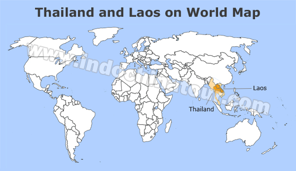 Thailand and Laos Travel Maps, Maps of Thailand and Laos