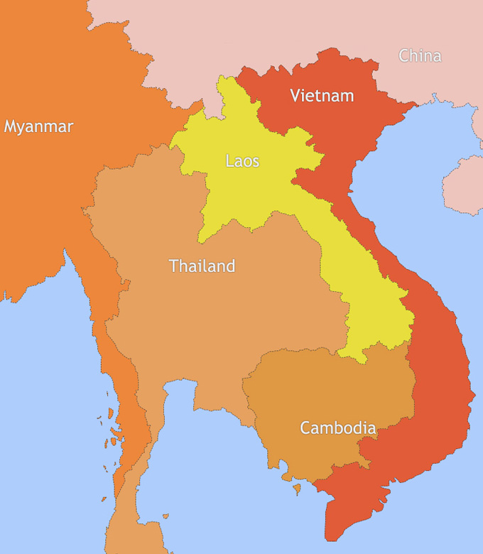 thailand and vietnam map Map Of Thailand And Vietnam
