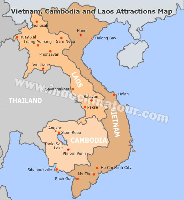 Vietnam And Cambodia Travel Maps - Vietnam map