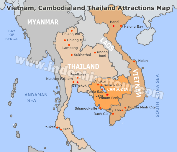 Vietnam and Cambodia Travel Maps – Travel Map Of Vietnam
