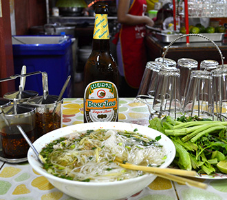 Khao Piak Sen & Beerlao