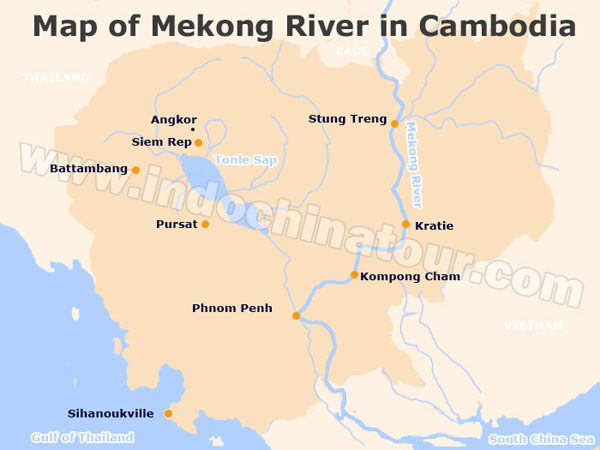 Mekong River Map Mekong River on a Map, Maps of Mekong River Mekong River Map