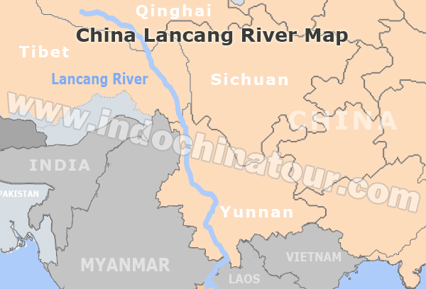 Rivers Map Of China.Mekong River On A Map Maps Of Mekong River