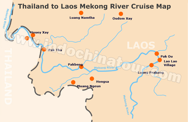 Mekong River on a Map, Maps of Mekong River