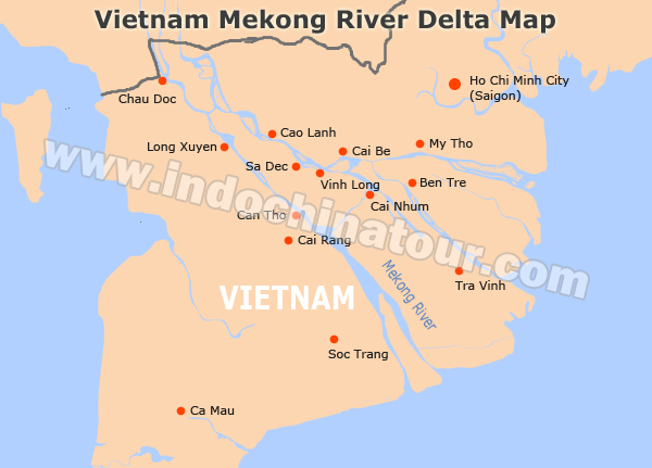 Mekong River On A Map Maps Of Mekong River - Rivers of vietnam map
