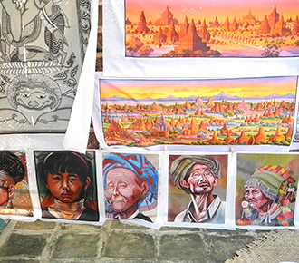 Myanmar Sand Paintings