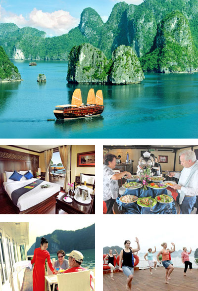 Halong Bay Cruise: Ship, Service and Activities