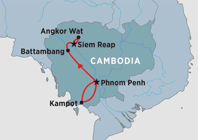 Vietnam and Cambodia Travel Maps on