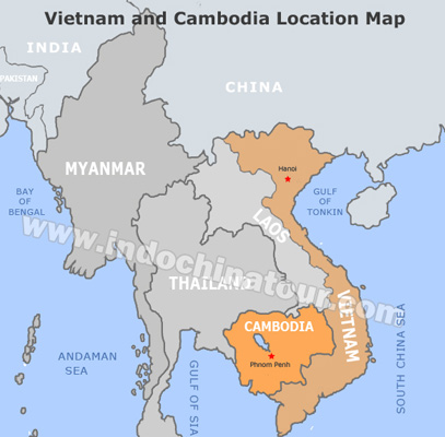 Vietnam And Cambodia Travel Maps