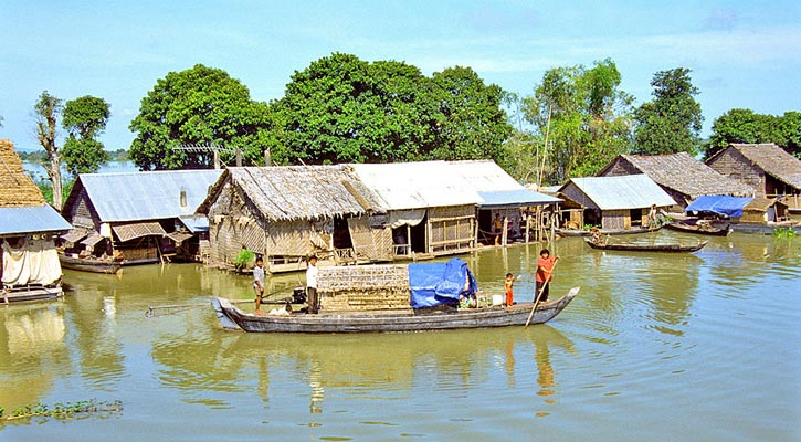 The Floating Village on the Tonle Sap Lake