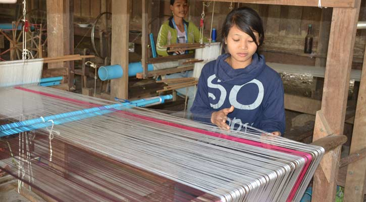 Cambodia Weaving Silk