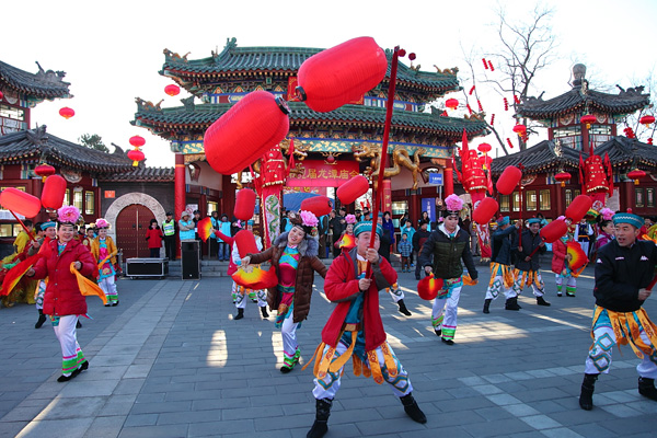 The local celebrations during Chinese Spring Festival holiday.