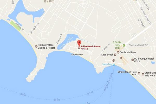 Sokha Beach Resort Map