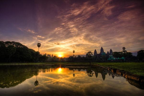 Touring in Cambodia