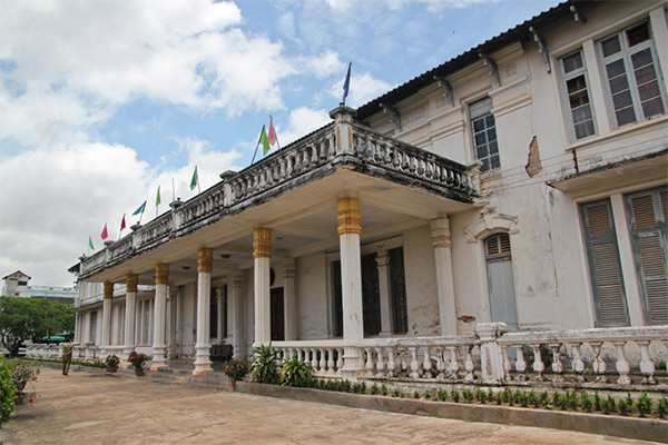 Lao National Museum was totally constructed in a French style